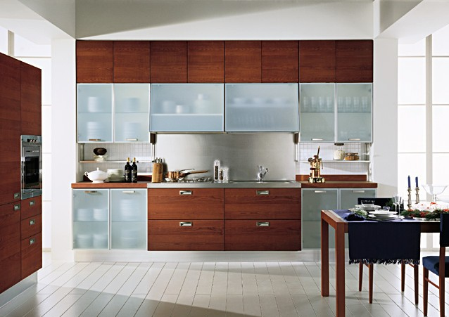 Glass-cabinet-shutters-modular-kitchen